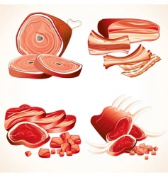 meat collection vector image