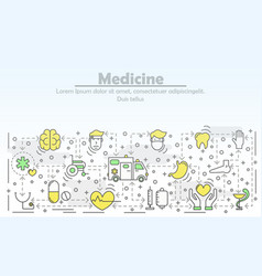 medicine advertising flat line art vector image