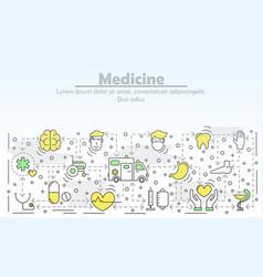 Medicine advertising flat line art vector