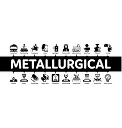 metallurgical minimal infographic banner vector image