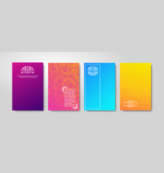 Minimal gradient cover design abstract color vector