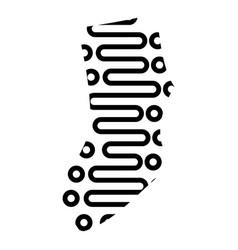 Modern sock icon simple style vector