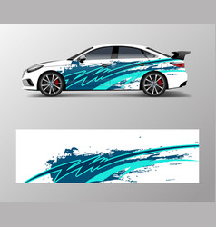 Modern stripe for racing car wrap sticker and vector