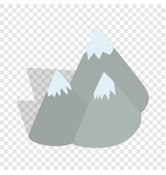Moutains sweden isometric icon vector