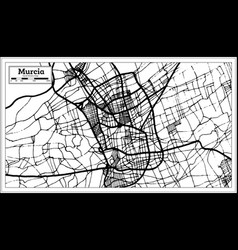 murcia spain city map in retro style outline map vector image