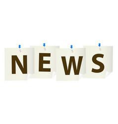 News pushpin vector