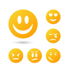 ollection creative cartoon style smiles with vector image