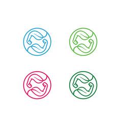 organic-muscles-logo vector image