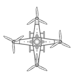 outline quadcopter drone vector image