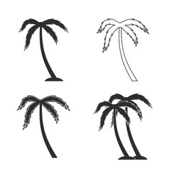 palm tree icon set vector image