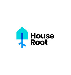 root house home tree logo icon vector image