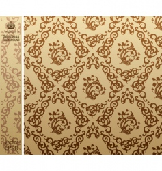 seamless vintage background pattern brown vector image