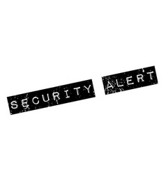 Security alert rubber stamp vector