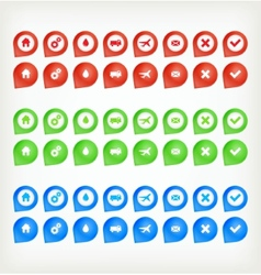 Set of round 3D transport pointers vector image