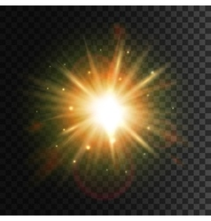 Shining star Bright sun light lens flare effect vector