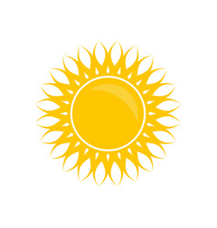 solar yellow color vector image