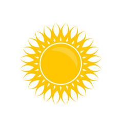 solar yellow color vector image