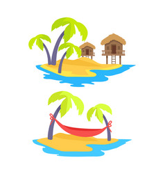 summer islands collection vector image