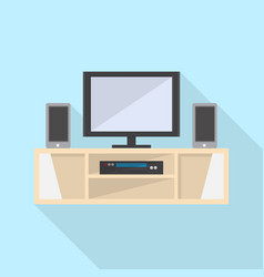 tv table icon set of great flat icons use for vector image