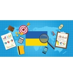 Ukraine economy economic condition country with vector