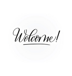 Welcome calligraphy design for cards prints vector