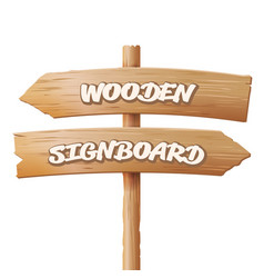 wooden signboards old geometric sign stand vector image vector image