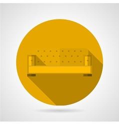 Yellow sofa flat icon vector image