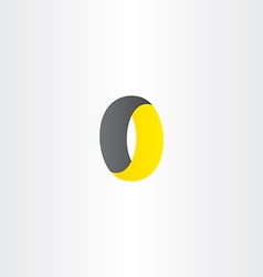 Zero 0 number o letter icon logo vector