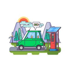 ecological modern car vector image vector image