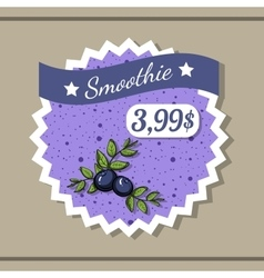 Smoothie Sticker 8 vector image