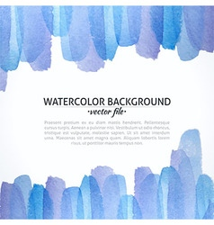 Watercolor Blue and Purple Abstract Background vector image