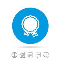 award icon best guarantee symbol vector image vector image