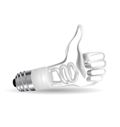 Bulb in the form of hand vector image vector image