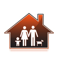 Family houses vector image