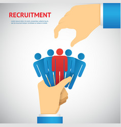 Human resource and recruitment vector