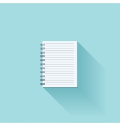 Notepad flat cion with shadow vector image