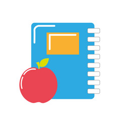 Rings notebook tool with apple fruit vector
