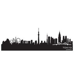 Tokyo Japan city skyline Detailed silhouette vector image vector image