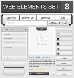 Web elements set 8 vector image vector image