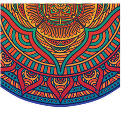 abstract mandala red tone flower design ima vector image