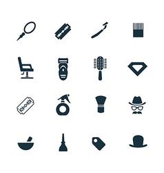 barbershop icons set vector image