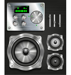 management console speaker system vector image