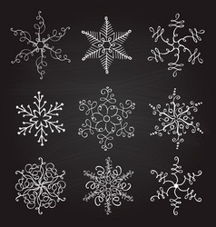 set of nine vintage christmas vector image