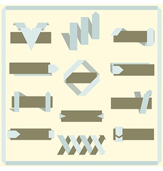 Set of retro ribbons banners and labels vector image
