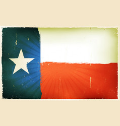 vintage american texas flag poster background vector image