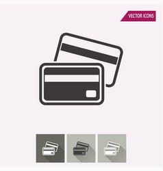 credit card - icon vector image