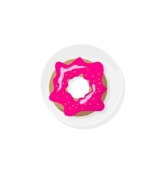Donut in a flat style Dessert office food vector image