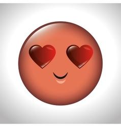emoticon feeling love icon graphic vector image vector image
