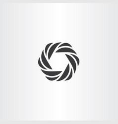 hexagon icon black symbol element vector image vector image