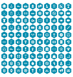 100 basketball icons sapphirine violet vector image